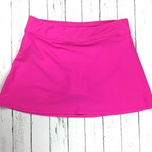 Other - NWOT Bright Hot Pink Swim Skirt Size XL